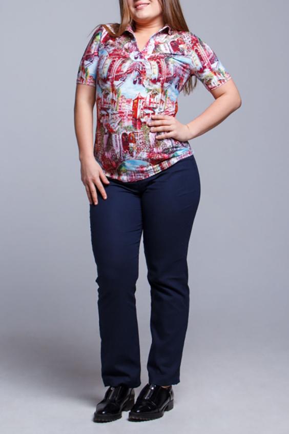 ФутболкаФутболки<br>Красивая футболка с короткими рукавами. Модель выполнена из приятного материала. Отличный выбор для повседневного гардероба.  В изделии использованы цвета: розовый, голубой и др.  Ростовка изделия 170 см.<br><br>Воротник: Отложной<br>Горловина: V- горловина<br>По материалу: Вискоза<br>По рисунку: С принтом,Цветные<br>По сезону: Весна,Зима,Лето,Осень,Всесезон<br>По силуэту: Приталенные<br>По стилю: Повседневный стиль<br>Рукав: Короткий рукав<br>Размер : 54<br>Материал: Вискоза<br>Количество в наличии: 1