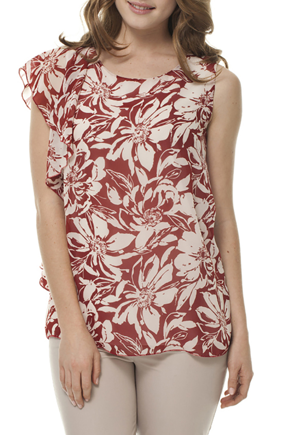 БлузкаБлузки<br>Цветная блузка с круглой горловиной. Модель выполнена из приятного материала. Отличный выбор для любого случая.  Цвет: красный, белый  Ростовка изделия 170 см.<br><br>Горловина: С- горловина<br>По материалу: Вискоза,Шифон<br>По рисунку: Растительные мотивы,С принтом,Цветные,Цветочные<br>По сезону: Весна,Зима,Лето,Осень,Всесезон<br>По силуэту: Свободные<br>По стилю: Повседневный стиль<br>По элементам: С воланами и рюшами,С отделочной фурнитурой<br>Рукав: Без рукавов,Короткий рукав<br>Размер : 46,48,50<br>Материал: Вискоза + Шифон<br>Количество в наличии: 3