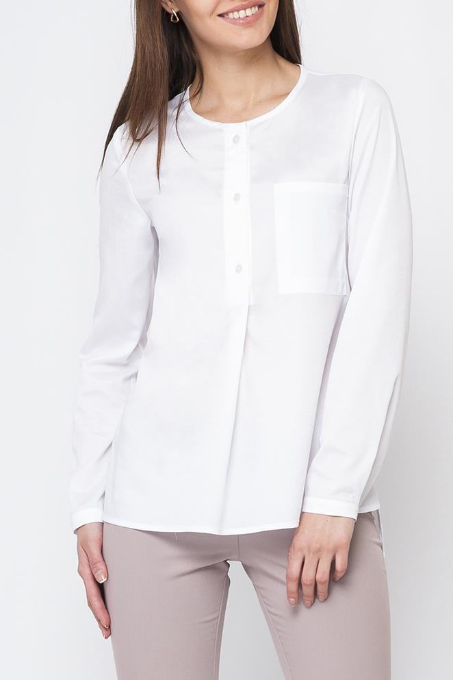 БлузкаБлузки<br>Однотонная блузка прямого силуэта с длинными рукавами и застежкой на пуговицы. Отличный выбор для любого случая. Блузка без пояса.  Параметры изделия:  44 размер: обхват по линии груди 98 см, обхват по линии бедер 109 см, длина по спинке - 69 см, длина рукава - 60,7 см;  52 размер: обхват по линии груди 116 см, обхват по линии бедер 125 см, длина по спинке - 71,6 см, длина рукава - 62 см  Цвет: белый  Рост девушки-фотомодели 170 см<br><br>Горловина: С- горловина<br>Застежка: С пуговицами<br>По материалу: Блузочная ткань<br>По рисунку: Однотонные<br>По сезону: Весна,Зима,Лето,Осень,Всесезон<br>По силуэту: Прямые<br>По стилю: Офисный стиль,Повседневный стиль<br>По элементам: С фигурным низом<br>Рукав: Рукав три четверти<br>Размер : 40,42<br>Материал: Шифон<br>Количество в наличии: 2