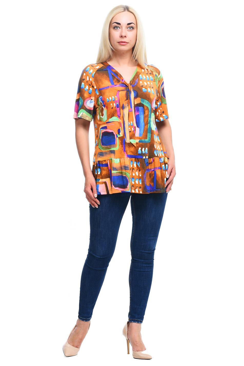 Блузка блузка женская la via estelar цвет зеленый 33951 размер 52