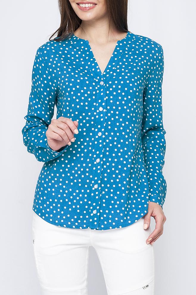 БлузкаБлузки<br>Цветная блузка с длинными рукавами. Модель выполнена из приятного материала. Отличный выбор для любого случая.  Параметры изделия:  42 размер: длина изделия по спинке - 63см, обхват по линии груди - 96см, длина рукава-61см;  46 размер: длина изделия по спинке - 64см, обхват по линии груди - 100см, длина рукава-61см.  Цвет: голубой, белый  Рост девушки-фотомодели 170 см<br><br>Застежка: С пуговицами<br>По материалу: Хлопок<br>По рисунку: В горошек,С принтом,Цветные<br>По сезону: Весна,Зима,Лето,Осень,Всесезон<br>По силуэту: Прямые<br>По стилю: Повседневный стиль<br>Рукав: Длинный рукав<br>Горловина: Фигурная горловина<br>Размер : 42<br>Материал: Хлопок<br>Количество в наличии: 1