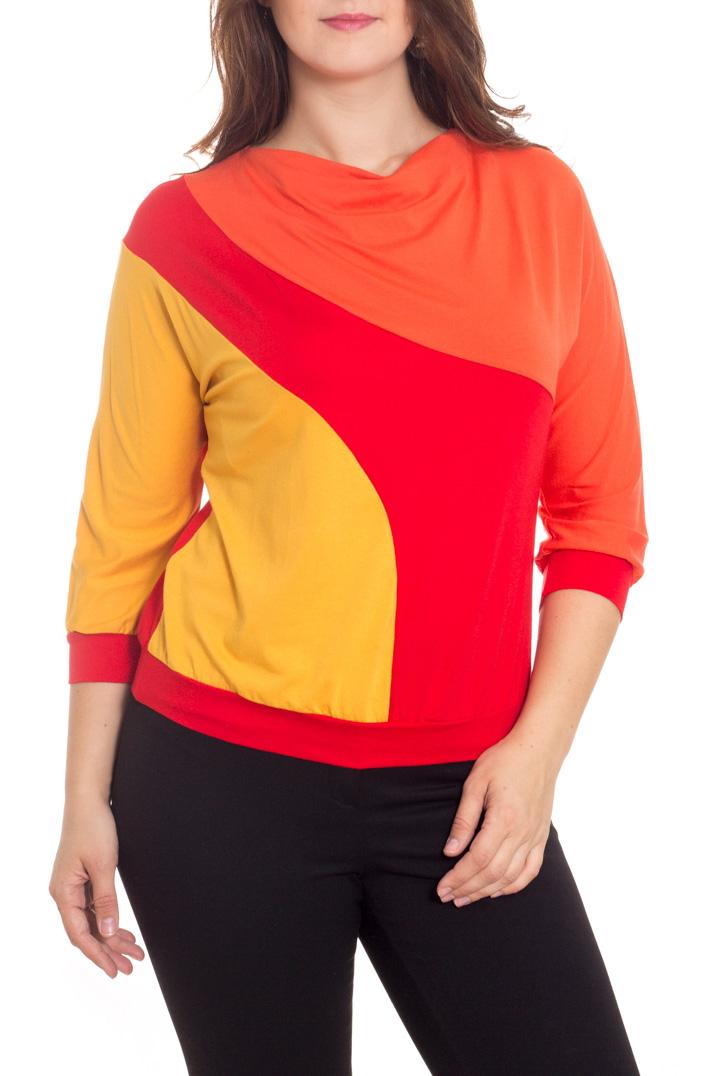ДжемперДжемперы<br>Цветной джемпер с горловиной качель и рукавами 3/4. Модель выполнена из мягкой вискозы. Отличный выбор для повседневного гардероба.  В изделии использованы цвета: красный, желтый, оранжевый  Рост девушки-фотомодели 180 см.<br><br>Горловина: Качель<br>По материалу: Вискоза,Трикотаж<br>По рисунку: Цветные<br>По сезону: Зима,Осень,Весна<br>По силуэту: Полуприталенные<br>По стилю: Повседневный стиль<br>По элементам: С манжетами<br>Рукав: Рукав три четверти<br>Размер : 46-48<br>Материал: Вискоза<br>Количество в наличии: 1