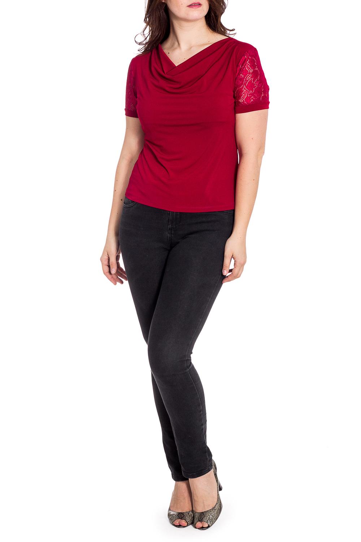 БлузкаБлузки<br>Чудесная блузка с горловиной quot;качельquot; и короткими рукавами. Модель выполнена из приятного материала. Отличный выбор для любого случая.  Цвет: бордовый  Ростовка изделия 170 см.<br><br>Горловина: Качель<br>По материалу: Гипюр,Хлопок<br>По рисунку: Однотонные<br>По сезону: Весна,Зима,Лето,Осень,Всесезон<br>По силуэту: Полуприталенные<br>По стилю: Нарядный стиль,Летний стиль<br>Рукав: Короткий рукав<br>Размер : 50,54<br>Материал: Хлопок + Гипюр<br>Количество в наличии: 2