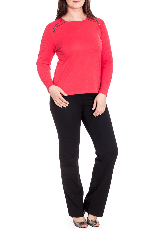 БлузкаБлузки<br>Однотонная блузка с длинными рукавами. Модель выполнена из приятного материала. Отличный выбор для повседневного гардероба.  В изделии использованы цвета: кораллово-красный  Рост девушки-фотомодели 180 см<br><br>Горловина: С- горловина<br>По материалу: Трикотаж<br>По рисунку: Однотонные<br>По сезону: Весна,Зима,Лето,Осень,Всесезон<br>По силуэту: Полуприталенные<br>По стилю: Повседневный стиль<br>По элементам: С декором,С отделочной фурнитурой<br>Рукав: Длинный рукав<br>Размер : 46,48,50<br>Материал: Трикотаж<br>Количество в наличии: 3