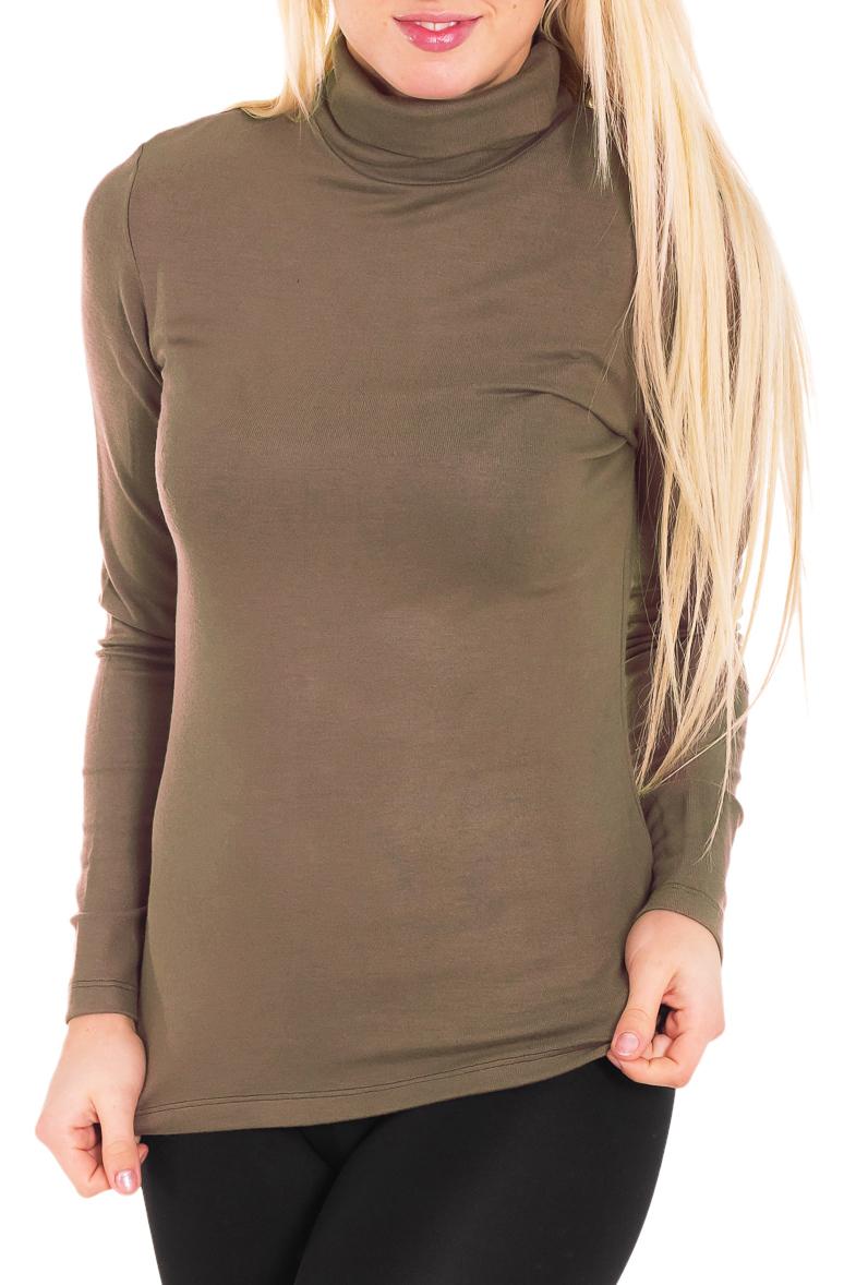ВодолазкаВодолазки<br>Уютная женская водолазка с длинными рукавами. Модель выполнена из мягкой вискозы. Отличный выбор для базового гардероба.  Цвет: светло-коричневый  Рост девушки-фотомодели 170 см.<br><br>Воротник: Стойка<br>По материалу: Вискоза,Трикотаж<br>По сезону: Весна,Осень,Зима<br>По силуэту: Полуприталенные<br>По стилю: Повседневный стиль,Офисный стиль<br>Рукав: Длинный рукав<br>По рисунку: Однотонные<br>Размер : 44<br>Материал: Вискоза<br>Количество в наличии: 4