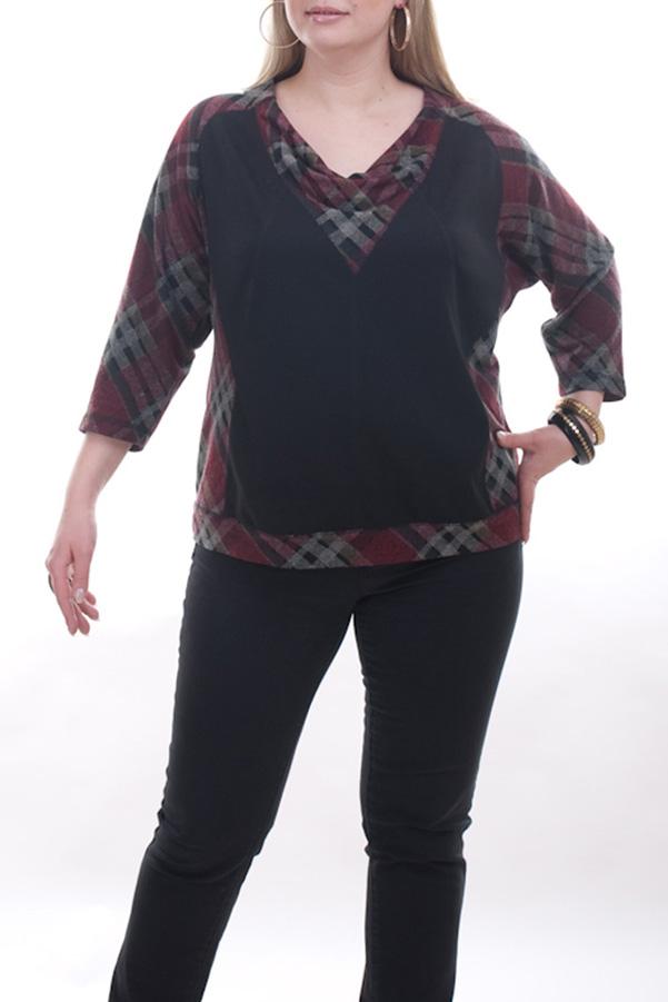 БлузкаБлузки<br>Красивая женская блузка с горловиной quot;качельquot; и рукавами 3/4. Модель выполнена из приятного материала. Отличный выбор для повседневного гардероба.  Цвет: черный, красный, серый  Рост девушки-фотомодели 173 см.<br><br>Горловина: Качель<br>По материалу: Вискоза,Трикотаж<br>По рисунку: Цветные,С принтом<br>По сезону: Весна,Зима,Лето,Осень,Всесезон<br>По силуэту: Полуприталенные<br>По стилю: Повседневный стиль<br>Рукав: Рукав три четверти<br>Размер : 52,54,56,64,66,68<br>Материал: Трикотаж<br>Количество в наличии: 8