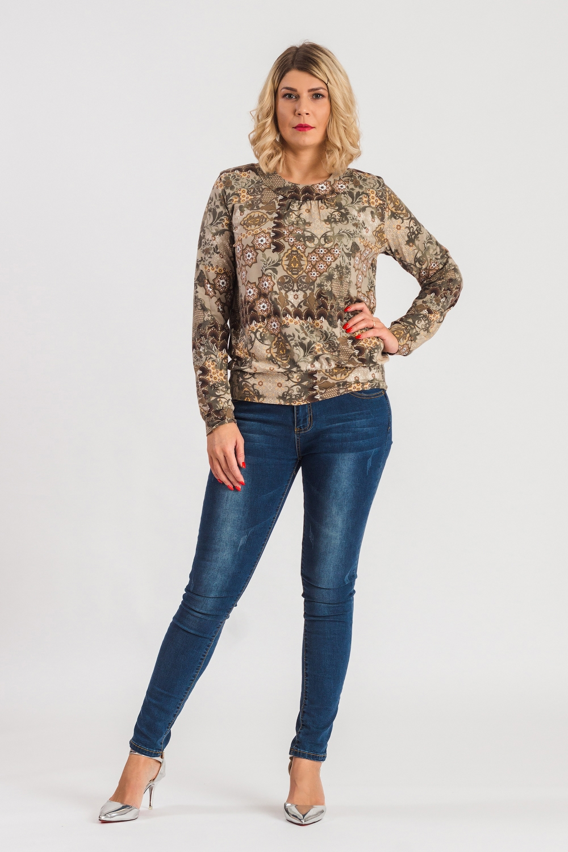 Блузка блузка женская oodji collection цвет бежевый 21411114 46422 3349c размер 46 170 52 170