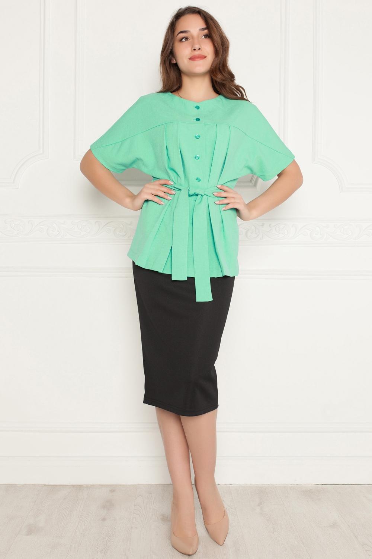 Блузка блузка женская oodji collection цвет зеленый бежевый 21400321 2 33116 6923o размер 38 44 170