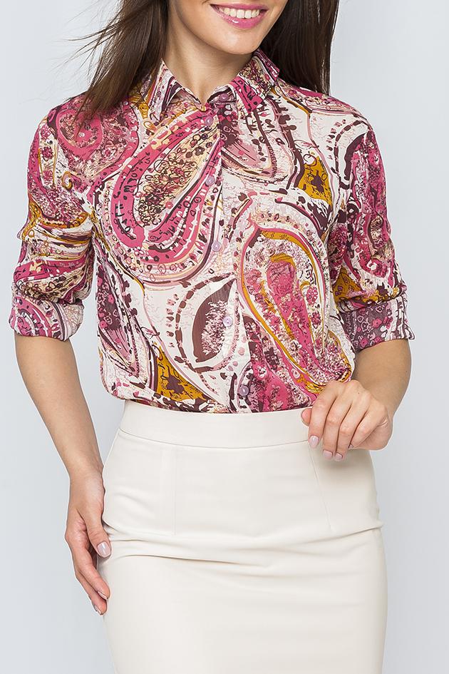 БлузкаБлузки<br>Цветная блузка с длинными рукавами и застежкой на пуговицы. Модель выполнена из приятного материала. Отличный выбор для повседневного гардероба.  Параметры изделия:  44 размер: обхват по линии груди - 104 см, обхват по линии бедер - 106 см, длина изделия - 70 см;  54 размер: обхват по линии груди - 126 см, обхват по линии бедер - 128 см, длина изделия - 73 см  Цвет: белый, розовый, бордовый, оранжевый  Рост девушки-фотомодели 170 см<br><br>Воротник: Рубашечный<br>Застежка: С пуговицами<br>По материалу: Шифон<br>По рисунку: Абстракция,С принтом,Цветные,Этнические<br>По сезону: Весна,Зима,Лето,Осень,Всесезон<br>По силуэту: Полуприталенные<br>По стилю: Повседневный стиль<br>По элементам: С манжетами<br>Рукав: Длинный рукав<br>Размер : 56,58<br>Материал: Шифон<br>Количество в наличии: 2