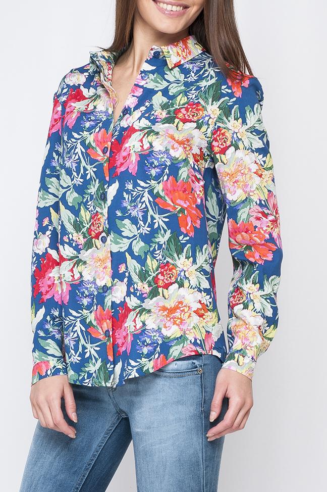 БлузкаБлузки<br>Цветная блузка с длинными рукавами и застежкой на пуговицы. Модель выполнена из приятного материала. Отличный выбор для повседневного гардероба.  Параметры изделия:  44 размер: обхват по линии груди - 104 см, обхват по линии бедер - 106 см, длина изделия - 70 см;  54 размер: обхват по линии груди - 126 см, обхват по линии бедер - 128 см, длина изделия - 73 см  Цвет: синий, мультицвет  Рост девушки-фотомодели 170 см<br><br>Воротник: Рубашечный<br>Застежка: С пуговицами<br>По материалу: Хлопок<br>По рисунку: Растительные мотивы,С принтом,Цветные,Цветочные<br>По сезону: Весна,Зима,Лето,Осень,Всесезон<br>По силуэту: Полуприталенные<br>По стилю: Повседневный стиль<br>По элементам: С манжетами<br>Рукав: Длинный рукав<br>Размер : 42,48,52<br>Материал: Хлопок<br>Количество в наличии: 6