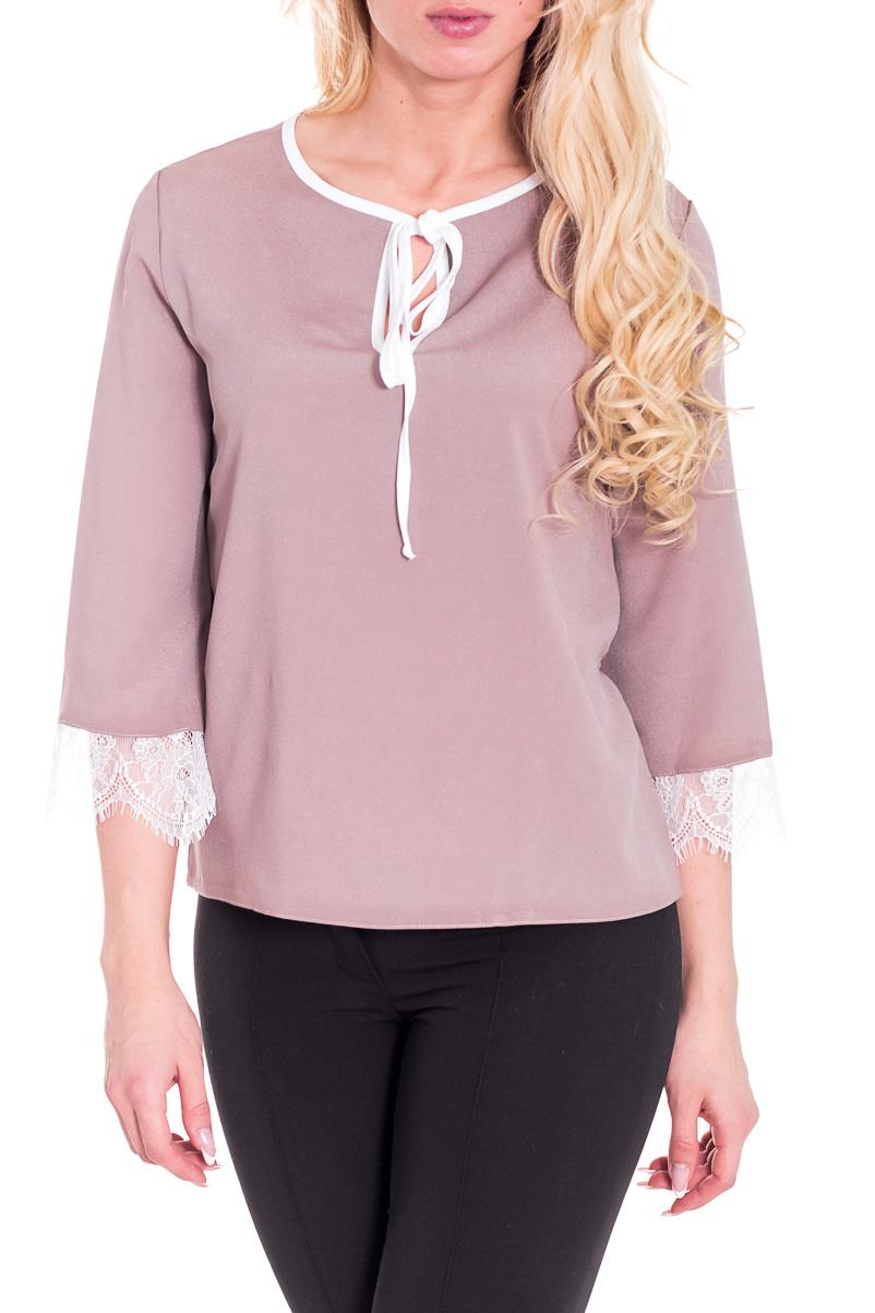 БлузкаБлузки<br>Замечательная блузка с рукавами 3/4. Модель выполнена из приятного материала. Отличный выбор для любого случая.  Цвет: бежевый, белый  Рост девушки-фотомодели 170 см<br><br>Горловина: С- горловина<br>Застежка: С завязками<br>По материалу: Блузочная ткань,Тканевые<br>По образу: Город,Свидание<br>По рисунку: Однотонные<br>По сезону: Весна,Зима,Лето,Осень,Всесезон<br>По силуэту: Свободные<br>По стилю: Повседневный стиль<br>По элементам: С декором<br>Рукав: Рукав три четверти<br>Размер : 40-42,48-50<br>Материал: Блузочная ткань<br>Количество в наличии: 2