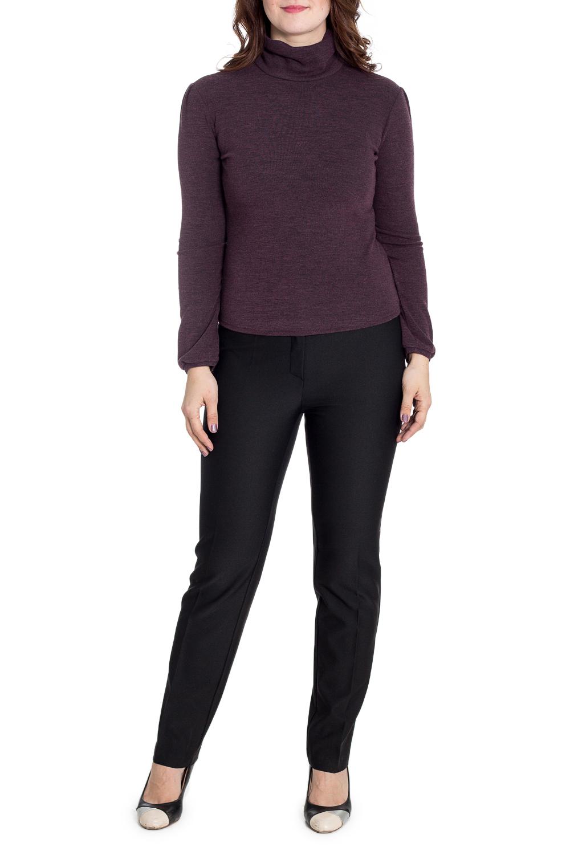 БлузкаБлузки<br>Однотонная блузка с длинными рукавами. Модель выполнена из приятного трикотажа. Отличный выбор для повседневного гардероба.  В изделии использованы цвета: коричнево-фиолетовый  Рост девушки-фотомодели 180 см<br><br>Воротник: Стойка<br>По материалу: Вискоза,Трикотаж<br>По образу: Город,Свидание<br>По рисунку: Однотонные<br>По сезону: Весна,Зима,Лето,Осень,Всесезон<br>По силуэту: Полуприталенные<br>По стилю: Повседневный стиль<br>По элементам: С манжетами<br>Рукав: Длинный рукав<br>Размер : 48,52,56<br>Материал: Вискоза<br>Количество в наличии: 3