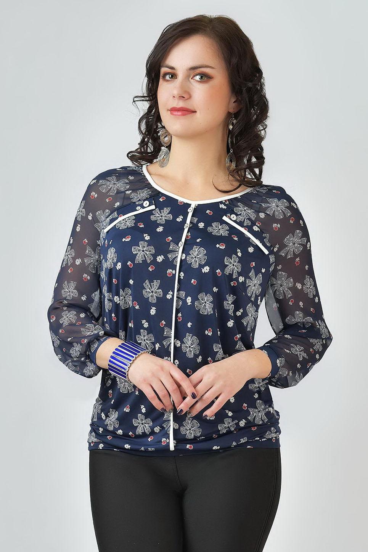 Блузка шарф хомут noryalli 37201 grey beige