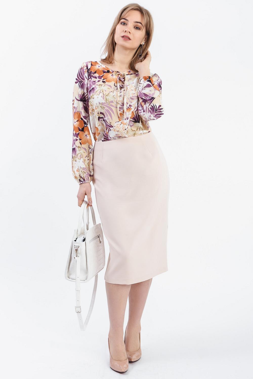 Блузка с тропическим принтом