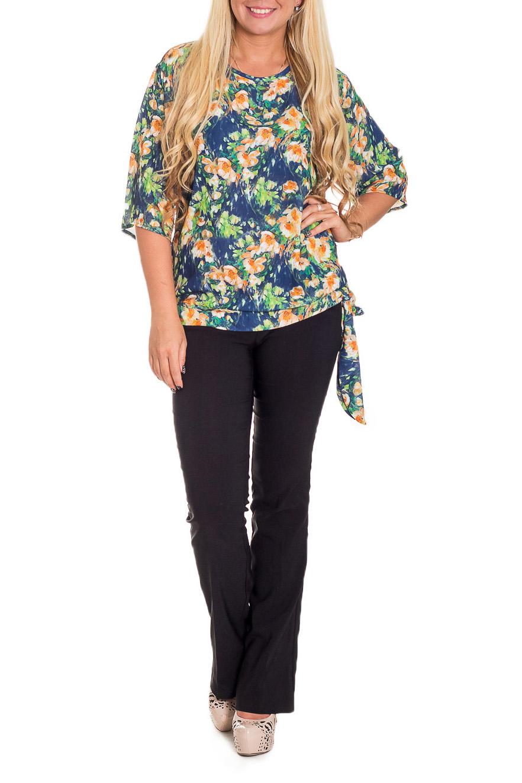 БлузкаБлузки<br>Повседневные, женственные блузки идеально подходят как для романтичных встреч, так и для походов в кафе с Вашими подругами. Изделие выполнено из струящегося шифона, который прекрасно садится по любой фигуре.   Цвет: синий, желтый, зеленый и др.  Рост девушки-фотомодели 170 см  Длина изделия: 62 размер - 52 ± 2 см 62 размер - 54 ± 2 см 62 размер - 54 ± 2 см 66 размер - 54 ± 2 см 66 размер - 54 ± 2 см<br><br>Горловина: С- горловина<br>Застежка: С завязками<br>По рисунку: Растительные мотивы,С принтом,Цветные,Цветочные<br>По сезону: Весна,Зима,Лето,Осень,Всесезон<br>По силуэту: Свободные<br>По стилю: Повседневный стиль<br>По элементам: С декором<br>Рукав: Рукав три четверти<br>По материалу: Шифон<br>Размер : 54<br>Материал: Шифон<br>Количество в наличии: 1