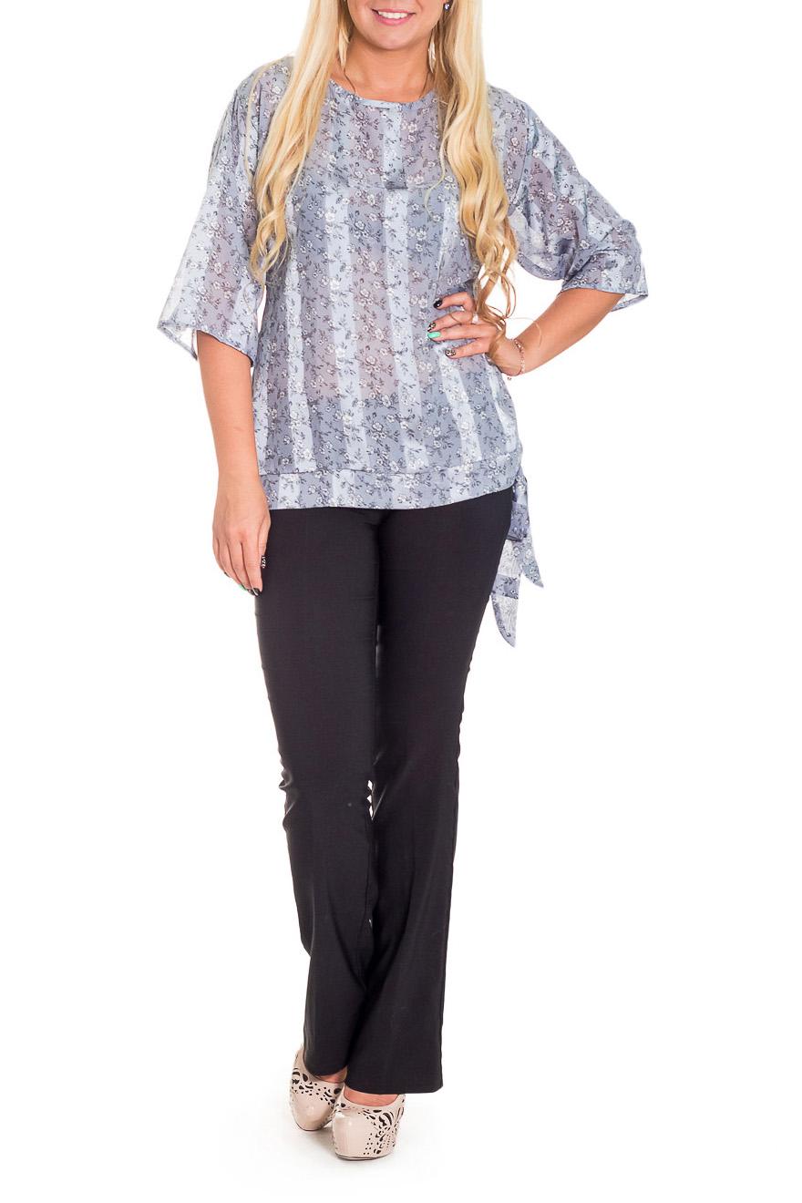 БлузкаБлузки<br>Повседневные, женственные блузки идеально подходят как для романтичных встреч, так и для походов в кафе с Вашими подругами. Изделие выполнено из струящегося шифона, который прекрасно садится по любой фигуре.   Цвет: серый, белый.  Рост девушки-фотомодели 170 см  Длина изделия: 62 размер - 52 ± 2 см 62 размер - 54 ± 2 см 62 размер - 54 ± 2 см 66 размер - 54 ± 2 см 66 размер - 54 ± 2 см<br><br>Горловина: С- горловина<br>Застежка: С завязками<br>По материалу: Шифон<br>По рисунку: В полоску,Растительные мотивы,С принтом,Цветные,Цветочные<br>По сезону: Весна,Зима,Лето,Осень,Всесезон<br>По силуэту: Свободные<br>По стилю: Повседневный стиль<br>По элементам: С декором<br>Рукав: Рукав три четверти<br>Размер : 50,52,54,56<br>Материал: Шифон<br>Количество в наличии: 8