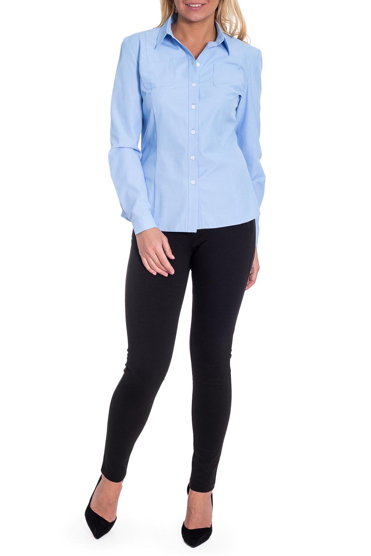 РубашкаРубашки<br>Рубашка полуприлегающего силуэта с рельефами на переде и на спинке. Спереди накладные карманы на груди, отрезная планка с пуговицами. Рукав длинный на манжете с пуговицами. Воротник quot;стояче-отложнойquot;. Низ изделия фигурный.  Цвет: голубой с мелкими точками.  Длина рукава - 62 ± 2 см  Рост девушки-фотомодели 170 см  Длина изделия: 44 размер - 54 ± 2 см 46 размер - 56 ± 2 см 48 размер - 58 ± 2 см 50 размер - 60 ± 2 см 52 размер - 62 ± 2 см 54 размер - 64 ± 2 см 56 размер - 66 ± 2 см 58 размер - 68 ± 2 см<br><br>Воротник: Стояче-отложной<br>Застежка: С пуговицами<br>По материалу: Тканевые<br>По рисунку: Однотонные<br>По сезону: Весна,Зима,Лето,Осень,Всесезон<br>По силуэту: Полуприталенные<br>По стилю: Классический стиль,Кэжуал,Офисный стиль,Повседневный стиль<br>По элементам: С воротником,С карманами,С манжетами,С отделочной фурнитурой<br>Рукав: Длинный рукав<br>Размер : 48,50,52,54,56,58<br>Материал: Плательно-блузочная ткань<br>Количество в наличии: 9