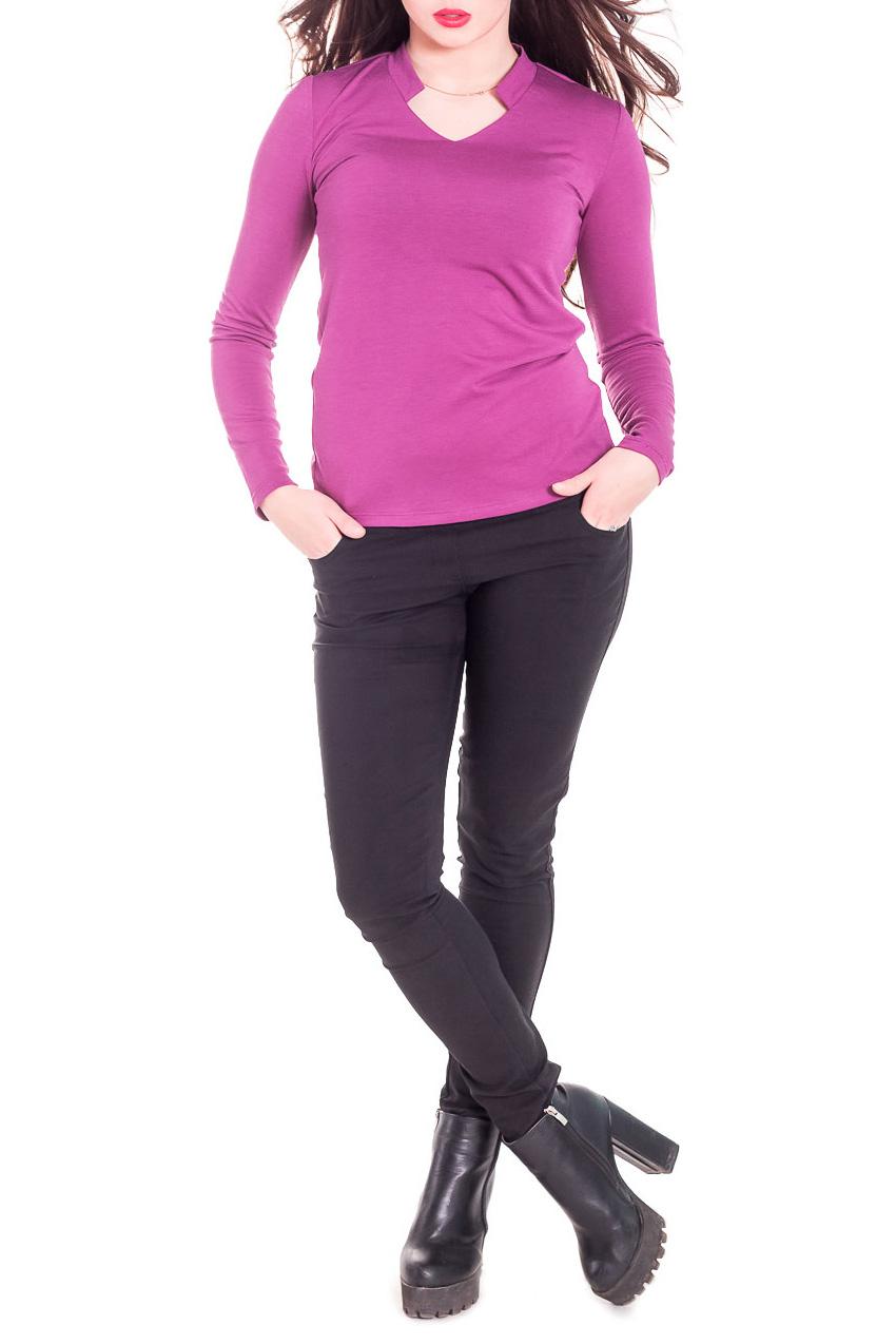 ЛонгсливЛонгсливы<br>Лонгслив - это хорошая базовая вещь, которую достаточно легко сочетать с джинсами, брюками, шортами, его можно носить под кардиган, пиджак или жакет. Лонгслив прилегающего силуэта. Горловина обработана планкой и обтачкой. Рукав втачной, длинный. Цвет: малиновый.  Длина рукава - 62 ± 1 см  Рост девушки-фотомодели 165 см  Длина изделия - 62 ± 2 см<br><br>Горловина: V- горловина<br>По материалу: Трикотаж<br>По рисунку: Однотонные<br>По сезону: Весна,Осень<br>По стилю: Повседневный стиль<br>Рукав: Длинный рукав<br>По силуэту: Приталенные<br>Размер : 42,44<br>Материал: Вискоза<br>Количество в наличии: 3