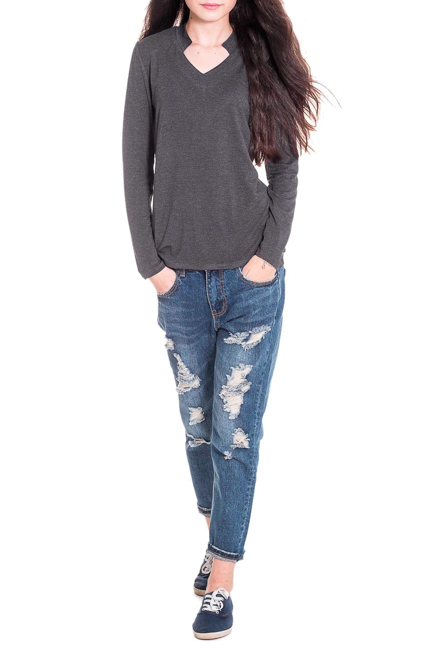 ЛонгсливЛонгсливы<br>Лонгслив - это хорошая базовая вещь, которую достаточно легко сочетать с джинсами, брюками, шортами, его можно носить под кардиган, пиджак или жакет. Лонгслив прилегающего силуэта. Горловина обработана планкой и обтачкой. Рукав втачной, длинный. Цвет: графит.  Длина рукава - 62 ± 1 см  Рост девушки-фотомодели 174 см  Длина изделия - 62 ± 2 см<br><br>Горловина: V- горловина<br>По материалу: Трикотаж,Хлопок<br>По рисунку: Однотонные<br>По сезону: Весна,Осень<br>По силуэту: Полуприталенные<br>По стилю: Кэжуал,Повседневный стиль<br>По элементам: С вырезом,С декором<br>Рукав: Длинный рукав<br>Размер : 48,50<br>Материал: Вискоза<br>Количество в наличии: 9