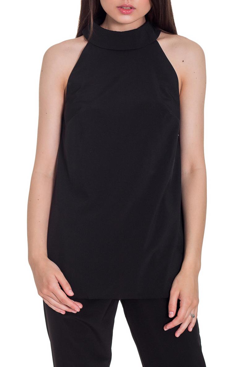 БлузкаБлузки<br>Очаровательная женская блузка с горловиной халтер и открытой линией плеч сделает Ваш образ более стильным и элегантным. Создайте свой ультрамодный образ с коллекцией JATRAW PEONY.  Блузка силуэта трапеция. На спинке средний шов и капелька. Воротник стояче-отложной с застежкой на пуговицу. Проймы обработаны обтачками.  Цвет: черный.  Рост девушки-фотомодели 169 см  Длина изделия - 63 ± 2 см  При создании образа, который Вы видите на фотографии, также были использованы стильные брюки арт. B1016(3062). Для просмотра модели введите артикул в строке поиска.<br><br>Воротник: Стойка<br>Застежка: С пуговицами<br>По материалу: Блузочная ткань<br>По рисунку: Однотонные<br>По сезону: Весна,Зима,Лето,Осень,Всесезон<br>По силуэту: Свободные<br>По стилю: Классический стиль,Кэжуал,Молодежный стиль,Офисный стиль,Повседневный стиль,Ультрамодный стиль,Летний стиль<br>По элементам: С воротником,С декором,С открытыми плечами<br>Рукав: Без рукавов<br>Размер : 42,44,46,48,52<br>Материал: Блузочная ткань<br>Количество в наличии: 6