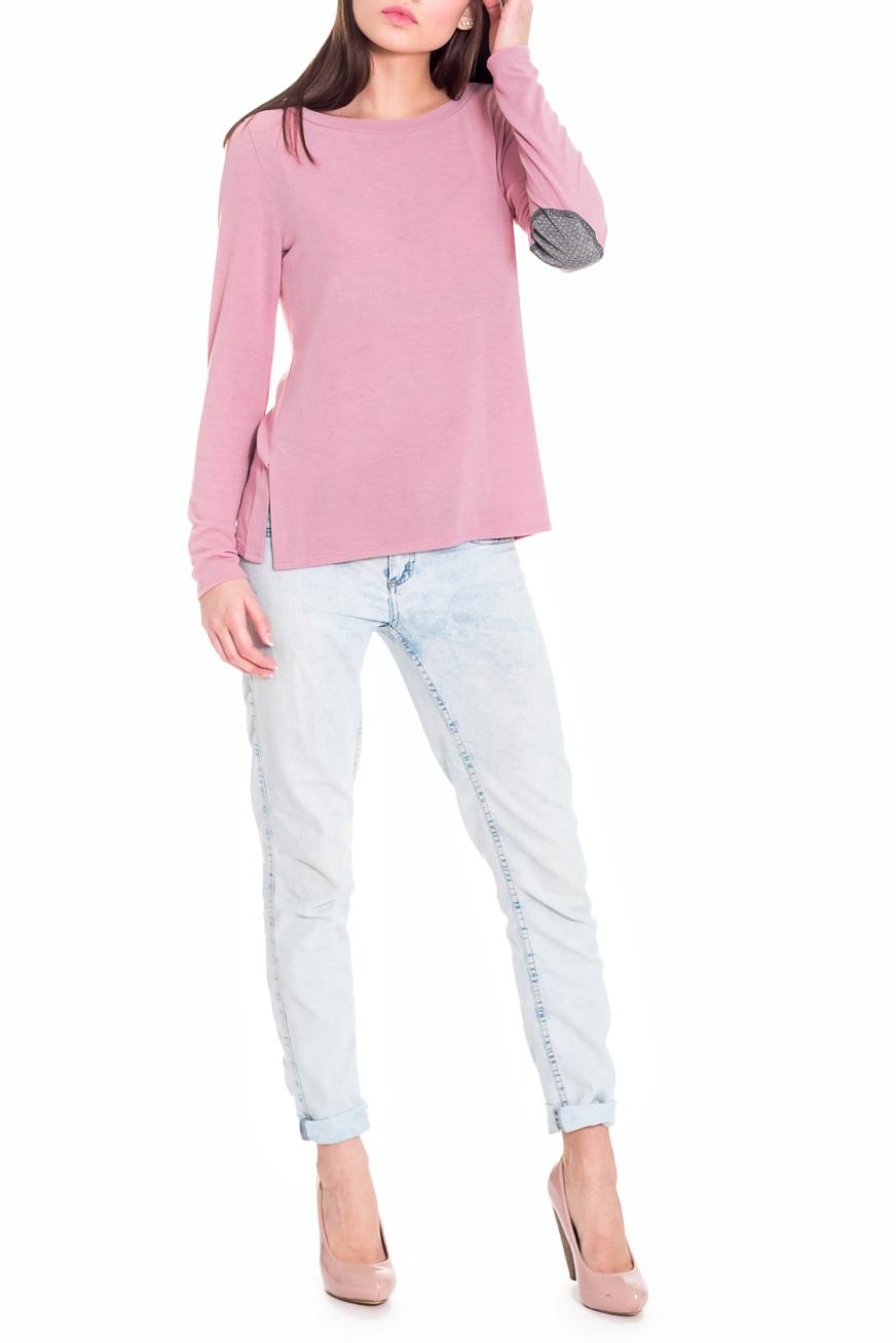 ДжемперДжемперы<br>Модный джемпер с заплатками на локтях – интересная модель для создания образа в стиле casual.  Джемпер прямого силуэта с разрезами по бокам. Горловина обработана бейкой. Рукав втачной, длинный, заплатки на локтях. Цвет: розовый, серый (заплатки).  Длина рукава - 60 ± 1 см  Рост девушки-фотомодели 169 см  Длина изделия - 58 ± 2 см<br><br>Горловина: С- горловина<br>По материалу: Трикотаж<br>По образу: Город,Офис,Свидание<br>По рисунку: Однотонные<br>По сезону: Зима,Осень,Весна<br>По силуэту: Прямые<br>По стилю: Кэжуал,Молодежный стиль,Офисный стиль,Повседневный стиль<br>По элементам: С декором<br>Рукав: Длинный рукав<br>Размер : 50<br>Материал: Трикотаж<br>Количество в наличии: 1