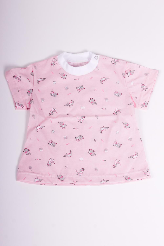 ФутболкаКофточки<br>Хлопковая футболка для девочки  Размер 68 соответствует росту 63-73 см<br><br>По сезону: Лето<br>Размер : 68<br>Материал: Хлопок<br>Количество в наличии: 1