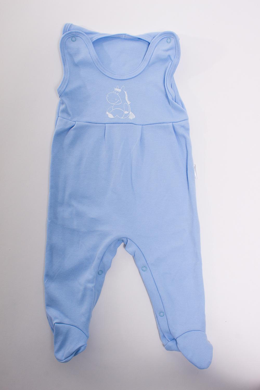 КомбинезонКомбинезончики<br>Хлопковый комбинезон для новорожденного  Цвет: голубой  Размер соответствует росту ребенка<br><br>Размер : 62,68,80<br>Материал: Трикотаж<br>Количество в наличии: 3