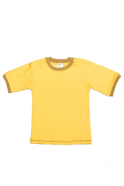 ФутболкаФутболки<br>Хлопковая футболка с круглой горловиной и короткими рукавами.  В изделии использованы цвета: желтый, горчичный  Размер 74 соответствует росту 70-73 см Размер 80 соответствует росту 74-80 см Размер 86 соответствует росту 81-86 см Размер 92 соответствует росту 87-92 см Размер 98 соответствует росту 93-98 см Размер 104 соответствует росту 98-104 см Размер 110 соответствует росту 105-110 см Размер 116 соответствует росту 111-116 см Размер 122 соответствует росту 117-122 см Размер 128 соответствует росту 123-128 см Размер 134 соответствует росту 129-134 см Размер 140 соответствует росту 135-140 см Размер 146 соответствует росту 141-146 см Размер 152 соответствует росту 147-152 см Размер 158 соответствует росту 153-158 см<br><br>Горловина: С- горловина<br>По возрасту: Ясельные ( от 1 до 3 лет),Дошкольные ( от 3 до 7 лет)<br>По материалу: Трикотажные,Хлопковые<br>По образу: Повседневные,Спорт<br>По рисунку: Однотонные<br>По сезону: Весна,Зима,Лето,Осень,Всесезон<br>По силуэту: Полуприталенные<br>По стилю: Повседневные<br>Рукав: Короткий рукав<br>Размер : 104,110,92,98<br>Материал: Трикотаж<br>Количество в наличии: 4