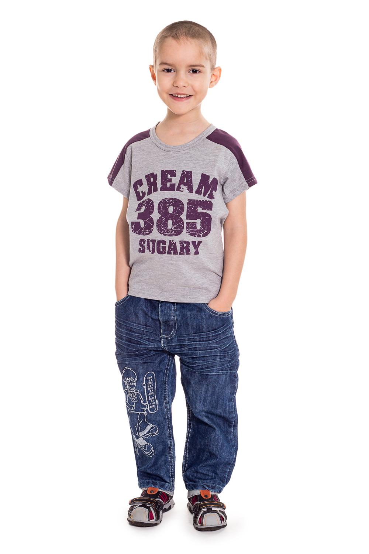 ФутболкаФутболки<br>Хлопковая футболка для мальчика  Цвет: серый, фиолетовый  Размер 74 соответствует росту 70-73 см Размер 80 соответствует росту 74-80 см Размер 86 соответствует росту 81-86 см Размер 92 соответствует росту 87-92 см Размер 98 соответствует росту 93-98 см Размер 104 соответствует росту 98-104 см Размер 110 соответствует росту 105-110 см Размер 116 соответствует росту 111-116 см Размер 122 соответствует росту 117-122 см Размер 128 соответствует росту 123-128 см Размер 134 соответствует росту 129-134 см Размер 140 соответствует росту 135-140 см Размер 146 соответствует росту 141-146 см<br><br>По образу: Уличные,Повседневные,Спорт<br>По стилю: Спортивные,Повседневные<br>По материалу: Трикотажные,Хлопковые<br>По рисунку: С принтом (печатью),Цветные<br>По сезону: Лето,Осень,Всесезон,Весна,Зима<br>По силуэту: Полуприталенные<br>Рукав: Короткий рукав<br>Горловина: С- горловина<br>По возрасту: Школьные ( от 7 до 13 лет),Дошкольные ( от 3 до 7 лет)<br>Размер: 104,116,128<br>Материал: 95% хлопок 5% эластан<br>Количество в наличии: 5