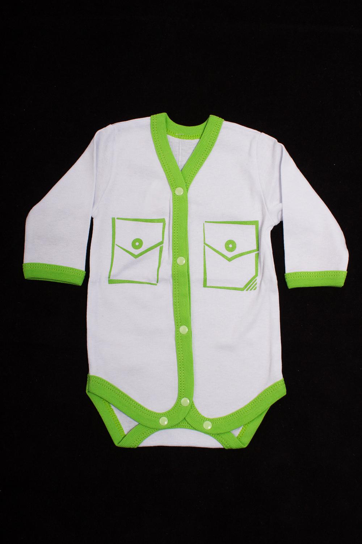 БодиКофточки<br>Хлопковое боди для новорожденного. Застежка на кнопки.  Цвет: белый, зеленый  Размер соответствует росту ребенка<br><br>Сезон: Всесезон<br>Размер : 56,62,68<br>Материал: Хлопок<br>Количество в наличии: 13