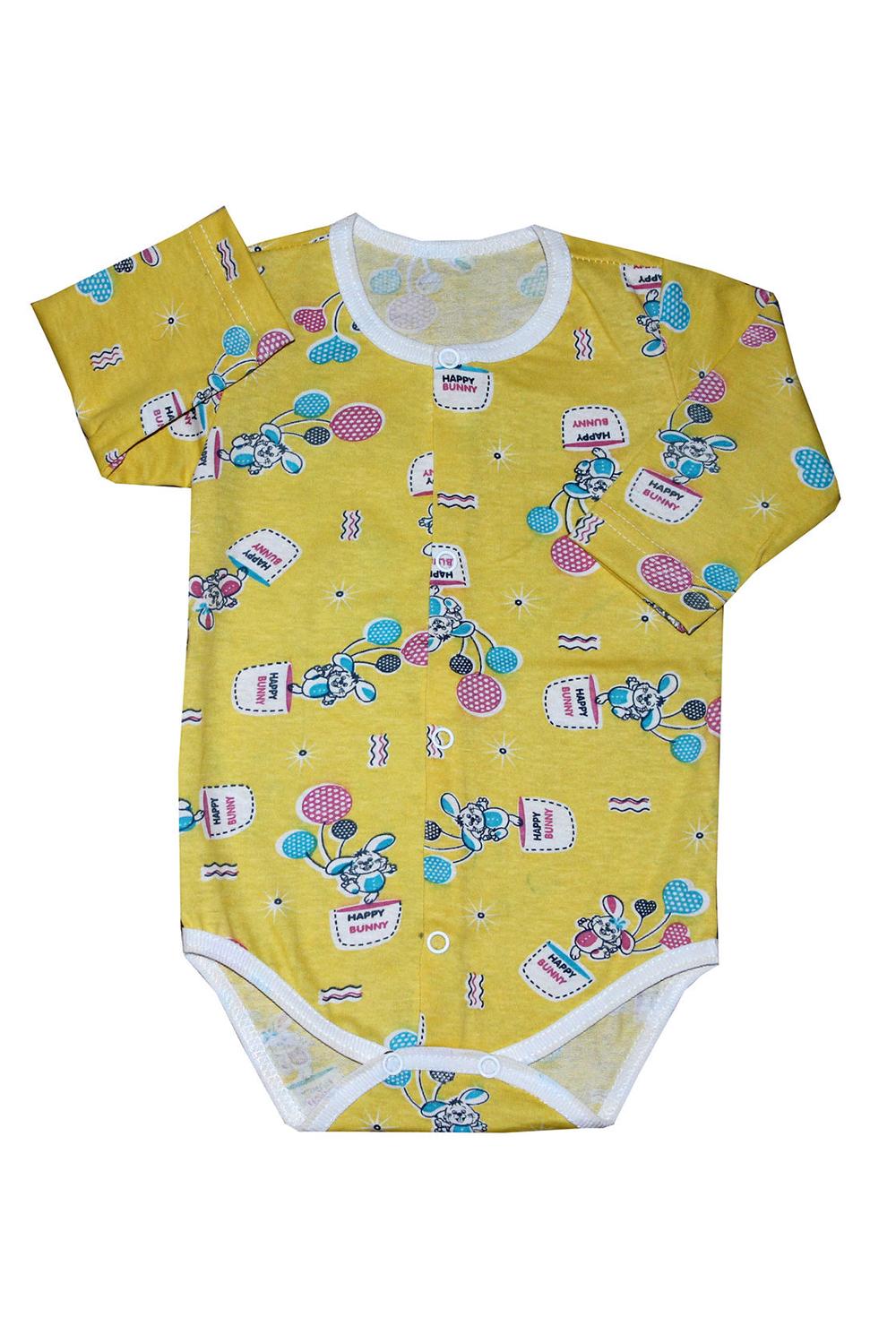 БодиКофточки<br>Хлопковое боди для новорожденного  В изделии использованы цвета: желтый, мультицвет  Размер соответствует росту ребенка.<br><br>По сезону: Всесезон<br>Размер : 74<br>Материал: Хлопок<br>Количество в наличии: 1