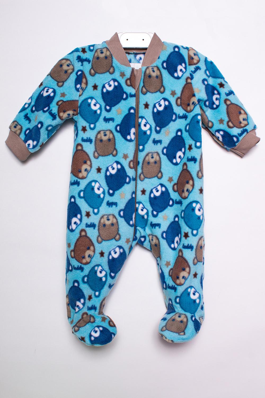 КомбинезонКомбинезончики<br>Цветной флисовый комбинезон для новорожденного.  В изделии использованы цвета: голубой и др.  Размер соответствует росту ребенка.<br><br>По сезону: Всесезон<br>Размер : 62<br>Материал: Флис<br>Количество в наличии: 1