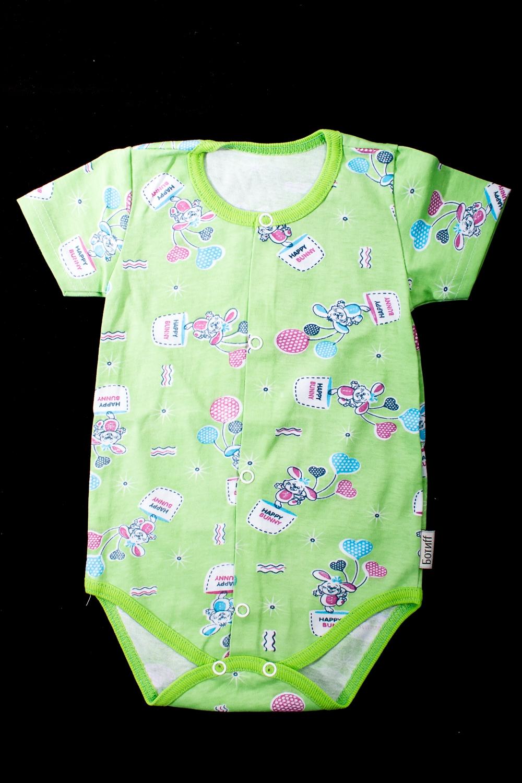 БодиКофточки<br>Хлопковое боди для новорожденного  В изделии использованы цвета: салатовый и др.  Размер соответствует росту ребенка.<br><br>По сезону: Всесезон<br>Размер : 68,74<br>Материал: Хлопок<br>Количество в наличии: 2