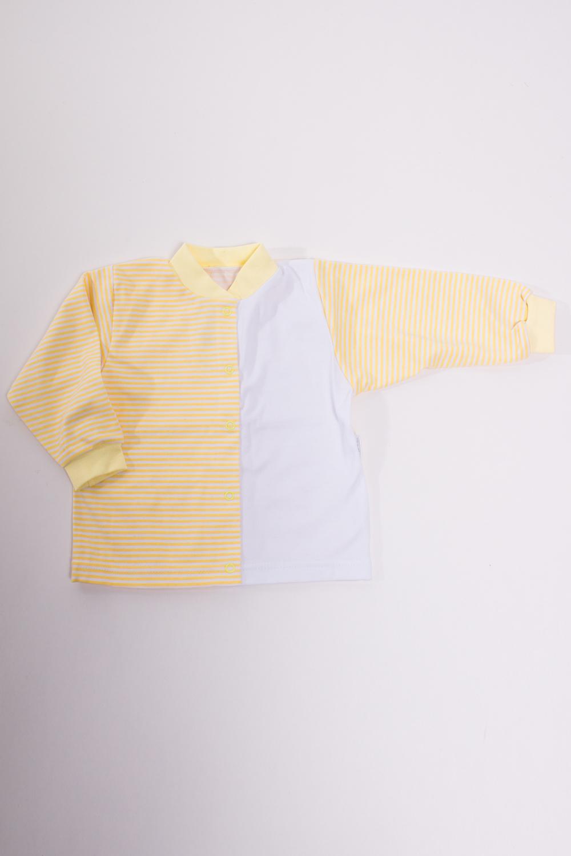 КофточкаКофточки<br>Хлопковая кофточка для новорожденного  Цвет: желтый, белый  Размер соответствует росту ребенка<br><br>Размер : 80,86<br>Материал: Хлопок<br>Количество в наличии: 8