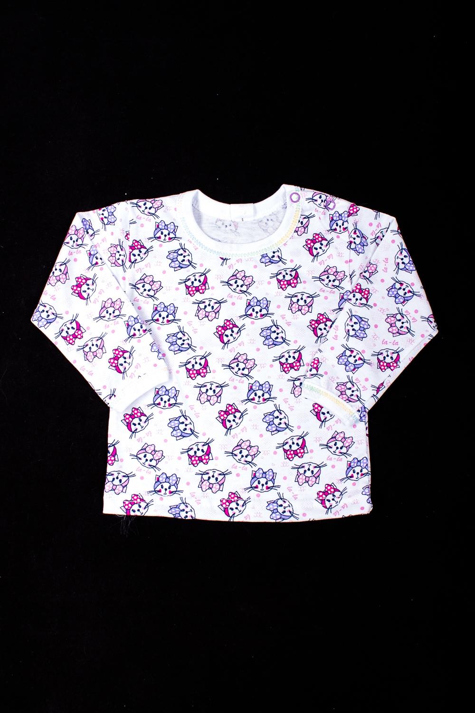 ФутболкаКофточки<br>Хлопковая футболка для новорожденного  В изделии использованы цвета: белый, розовый, сиреневый  Размер соответствует росту ребенка<br><br>Горловина: С- горловина<br>По возрасту: Ясельные ( от 1 до 3 лет)<br>По материалу: Хлопковые<br>По образу: Повседневные<br>По рисунку: С принтом (печатью),Цветные<br>По сезону: Весна,Осень,Всесезон<br>По силуэту: Полуприталенные<br>По стилю: Повседневные<br>Рукав: Длинный рукав<br>Размер : 68,80,86<br>Материал: Хлопок<br>Количество в наличии: 5