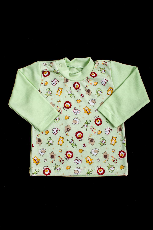 КофточкаДжемперы<br>Хлопковая кофточка для ребенкаВ изделии использованы цвета: зеленый и др.Размер соответствует росту ребенка<br><br>Горловина: С- горловина<br>Рукав: Длинный рукав<br>Образ: Повседневные<br>Рисунок: С принтом (печатью),Цветные<br>Сезон: Весна,Осень,Всесезон<br>Силуэт: Полуприталенные<br>Размер : 74,80,86<br>Материал: Хлопок<br>Количество в наличии: 3
