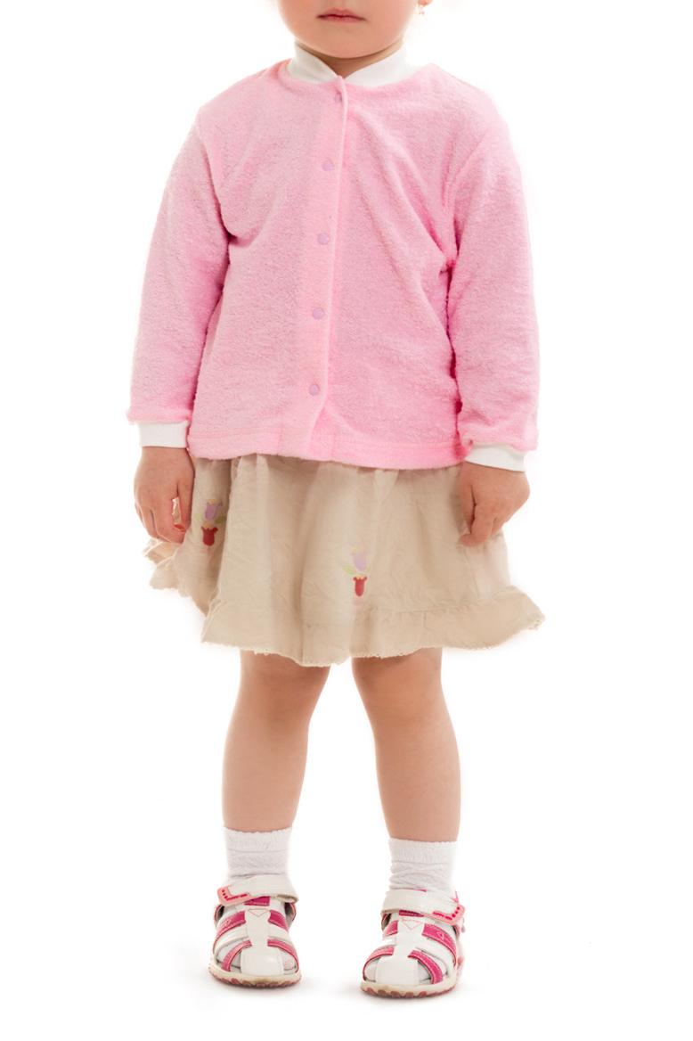 КофточкаКофты<br>Махровая кофточка для девочки.  Цвет: розовый.  Размер соответствует росту ребенка<br><br>По материалу: Хлопковые<br>По образу: Повседневные<br>По рисунку: Однотонные<br>По сезону: Весна,Зима,Лето,Осень,Всесезон<br>По элементам: Без воротника,С кнопками<br>Рукав: Длинный рукав<br>По возрасту: Ясельные ( от 1 до 3 лет)<br>Размер : 62,68,92<br>Материал: Махровое полотно<br>Количество в наличии: 6