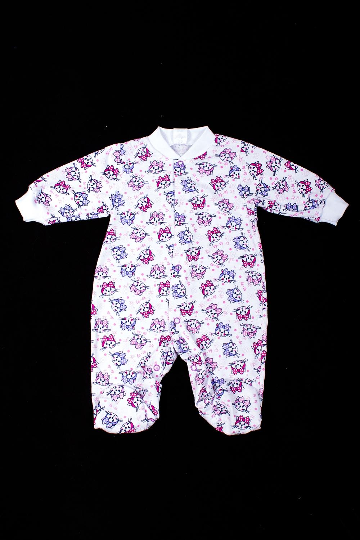 КомбинезонКомбинезончики<br>Хлопковый комбинезон для новорожденного  В изделии использованы цвета: белый, розовый, сиреневый и др.  Размер соответствует росту ребенка<br><br>По сезону: Всесезон<br>Размер : 56<br>Материал: Хлопок<br>Количество в наличии: 1