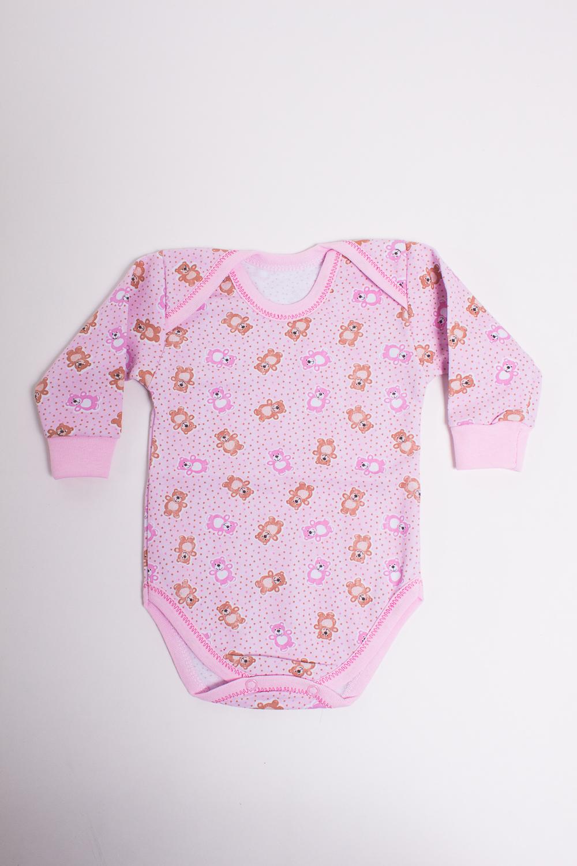 БодиКофточки<br>Хлопковое боди для новорожденного  Цвет: розовый, мультицвет  Размер соответствует росту ребенка<br><br>Размер : 80<br>Материал: Трикотаж<br>Количество в наличии: 1