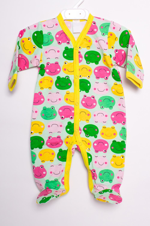 КомбинезонКомбинезончики<br>Хлопковый комбинезон для новорожденного  В изделии использованы цвета: зеленый, желтый, розовый и др.  Размер соответствует росту ребенка<br><br>По сезону: Всесезон<br>Размер : 56,62<br>Материал: Хлопок<br>Количество в наличии: 3