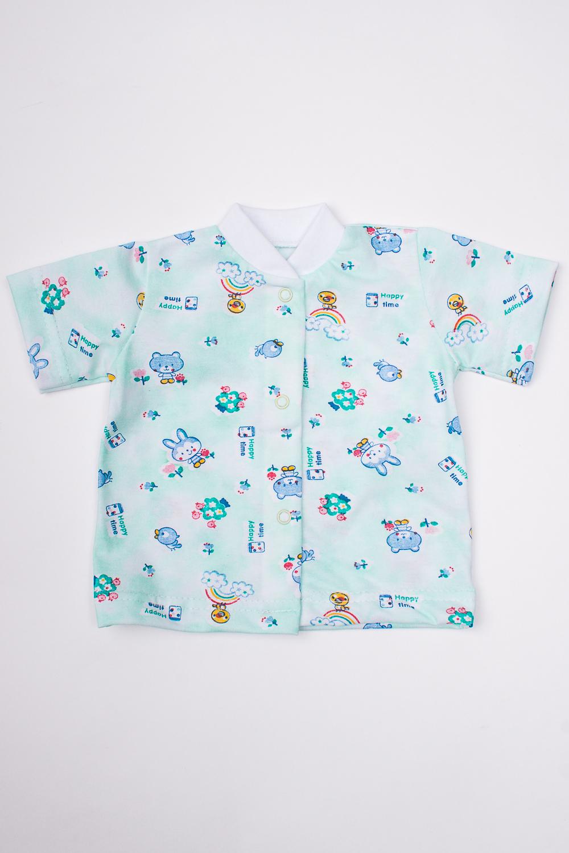 КофточкаКофточки<br>Хлопковая кофточка для новорожденного.  В изделии использованы цвета: голубой и др.  Размер соответствует росту ребенка<br><br>По сезону: Всесезон<br>Размер : 62,86<br>Материал: Хлопок<br>Количество в наличии: 2