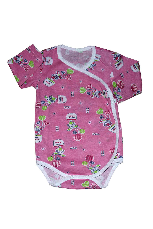 БодиКофточки<br>Хлопковое боди для новорожденного  В изделии использованы цвета: розовый и др.  Размер соответствует росту ребенка.<br><br>По сезону: Всесезон<br>Размер : 62<br>Материал: Хлопок<br>Количество в наличии: 1