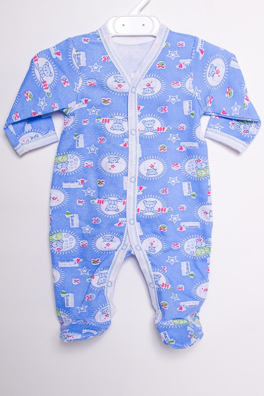 КомбинезонКомбинезончики<br>Хлопковый комбинезон для новорожденного  В изделии использованы цвета: синий и др.  Размер соответствует росту ребенка<br><br>По сезону: Всесезон<br>Размер : 56,68<br>Материал: Хлопок<br>Количество в наличии: 2