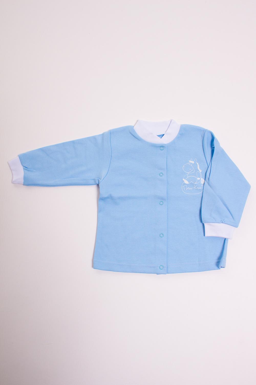 КофточкаКофточки<br>Хлопковая кофточка для новорожденного  Цвет: голубой, белый  Размер соответствует росту ребенка<br><br>Размер : 80,86<br>Материал: Хлопок<br>Количество в наличии: 3