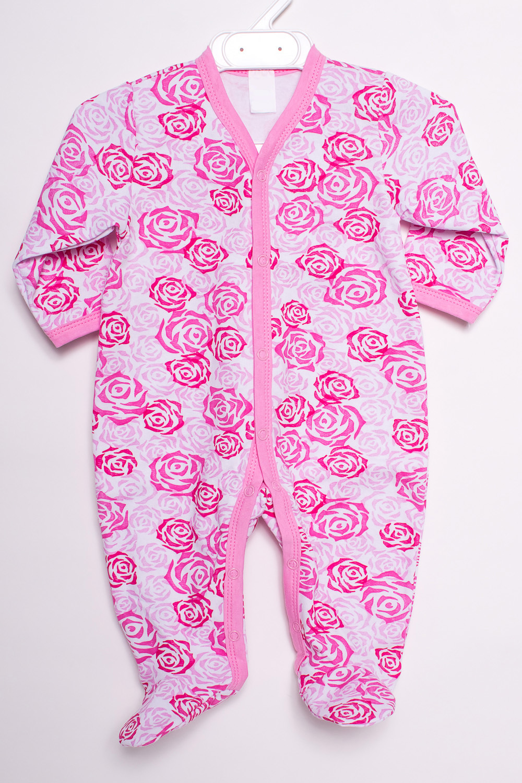 КомбинезонКомбинезончики<br>Хлопковый комбинезон для новорожденного  В изделии использованы цвета: розовый и др.  Размер соответствует росту ребенка<br><br>По сезону: Всесезон<br>Размер : 62<br>Материал: Хлопок<br>Количество в наличии: 1