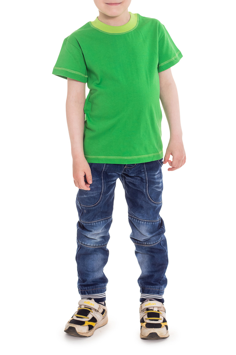 ФутболкаФутболки<br>Классическая детская футболка с округлой горловиной и короткими рукавами.  Цвет: зеленый.  Размер 74 соответствует росту 70-73 см Размер 80 соответствует росту 74-80 см Размер 86 соответствует росту 81-86 см Размер 92 соответствует росту 87-92 см Размер 98 соответствует росту 93-98 см Размер 104 соответствует росту 98-104 см Размер 110 соответствует росту 105-110 см Размер 116 соответствует росту 111-116 см Размер 122 соответствует росту 117-122 см Размер 128 соответствует росту 123-128 см Размер 134 соответствует росту 129-134 см Размер 140 соответствует росту 135-140 см Размер 146 соответствует росту 141-146 см<br><br>Горловина: С- горловина<br>По длине: Удлиненные<br>По материалу: Трикотажные,Хлопковые<br>По образу: Повседневные,Спорт,Уличные<br>По рисунку: Однотонные<br>По сезону: Весна,Зима,Лето,Осень,Всесезон<br>По стилю: Повседневные,Спортивные<br>По элементам: С декором<br>Рукав: Короткий рукав<br>По возрасту: Ясельные ( от 1 до 3 лет)<br>Размер : 110<br>Материал: Хлопок<br>Количество в наличии: 2