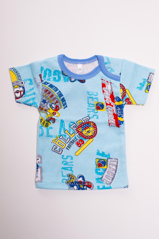 ФутболкаКофточки<br>Хлопковая футболка для новорожденного  Цвет: голубой, красный, желтый  Размер соответствует росту ребенка<br><br>Размер : 56,62,74<br>Материал: Хлопок<br>Количество в наличии: 14