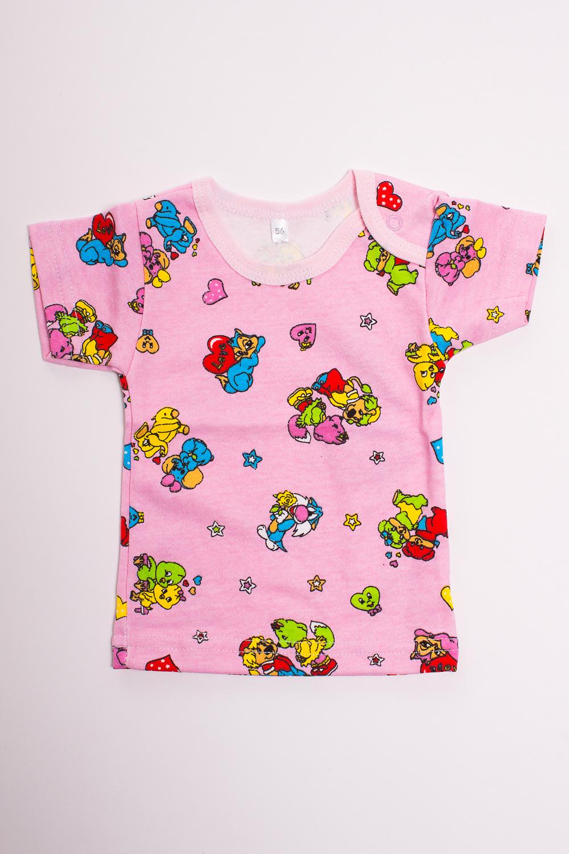 ФутболкаКофточки<br>Хлопковая футболка для новорожденного  Цвет: розовый, мультицвет  Размер соответствует росту ребенка<br><br>Размер : 56,62<br>Материал: Хлопок<br>Количество в наличии: 7