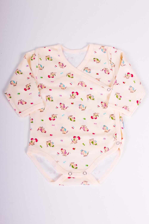 БодиКофточки<br>Хлопковое боди для новорожденного  Размер 68 соответствует росту 63-73 см<br><br>Размер : 68<br>Материал: Хлопок<br>Количество в наличии: 1