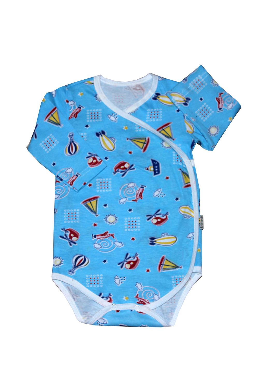 БодиКофточки<br>Хлопковое боди для новорожденного  В изделии использованы цвета: голубой и др.  Размер соответствует росту ребенка.<br><br>По сезону: Всесезон<br>Размер : 62,74<br>Материал: Хлопок<br>Количество в наличии: 2